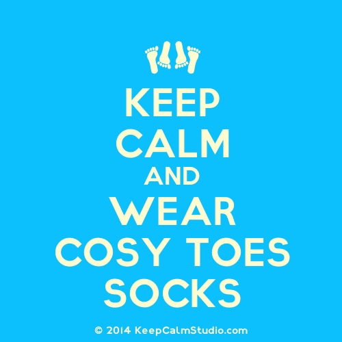 Keep calm and wear Cosy Toes socks